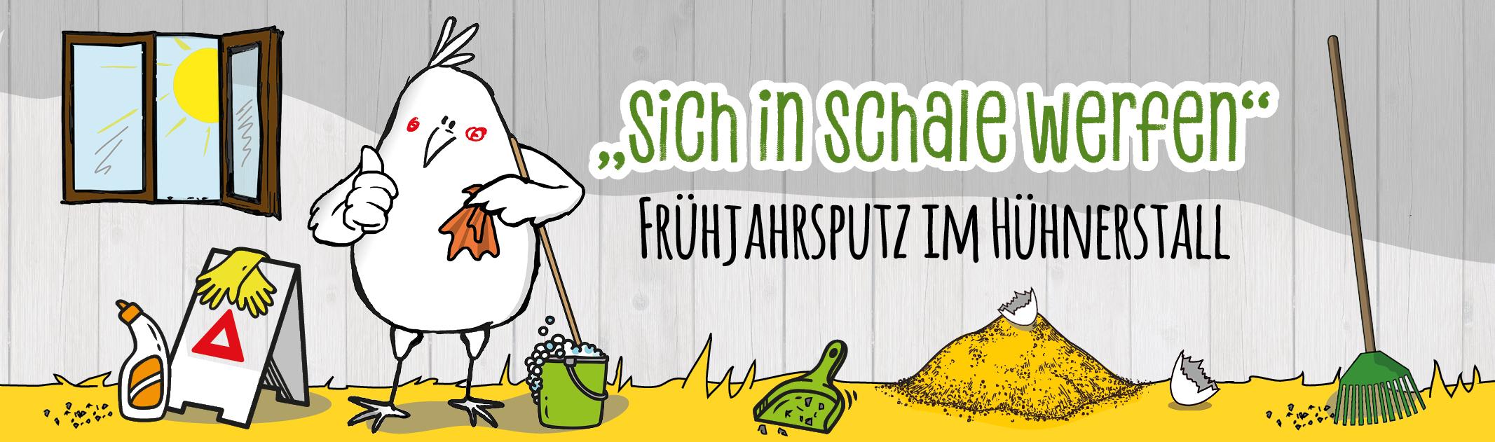 """""""Sich in Schale werfen"""": Frühjahrsputz im Hühnerstall"""