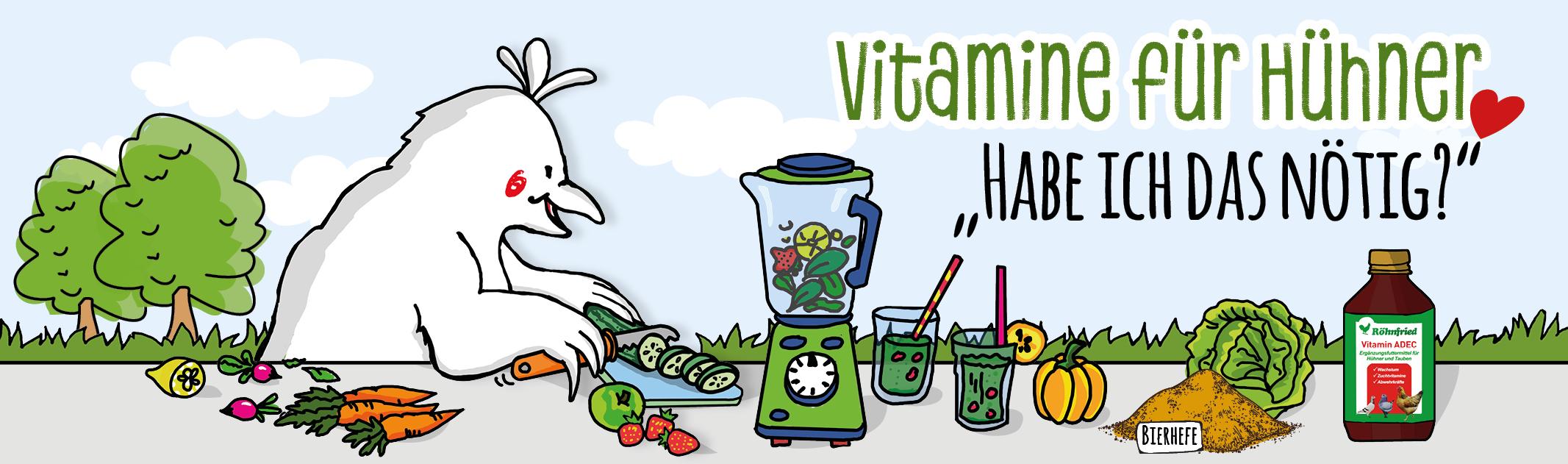 Nötige Vitamine für Hühner