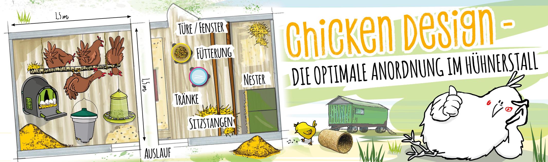 Die optimale Anordnung im Hühnerstall