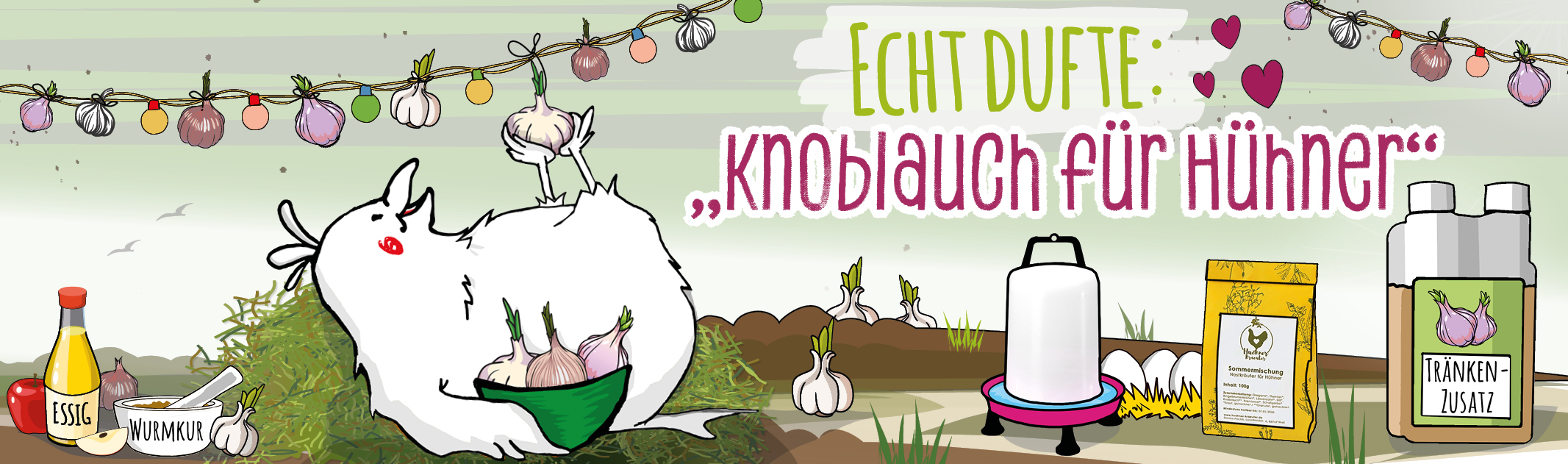 """""""Echt dufte: Knoblauch für Hühner"""""""