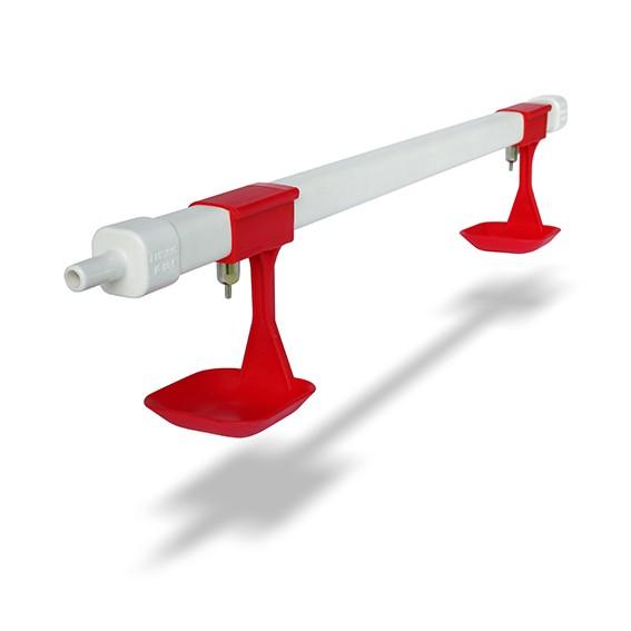 Doppelnippeltränke Fertigelement für Stall, Mobil & Auslauf | Bodenstrangtränke Bausatz Nippeltränke