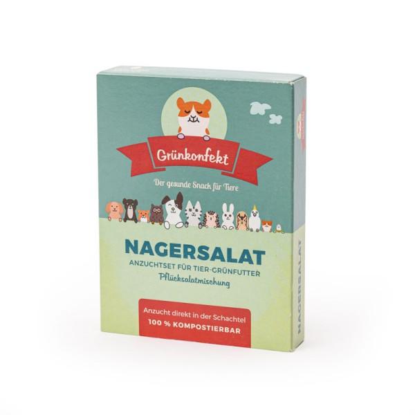 Grünkonfekt Nagersalat – selbst gezogener Pflücksalat-Mix für deine Haustiere