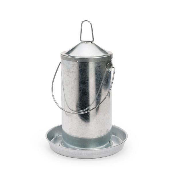 Hühnertränke aus verzinktem Metall 4 Liter – wie zu Großmutters Zeiten