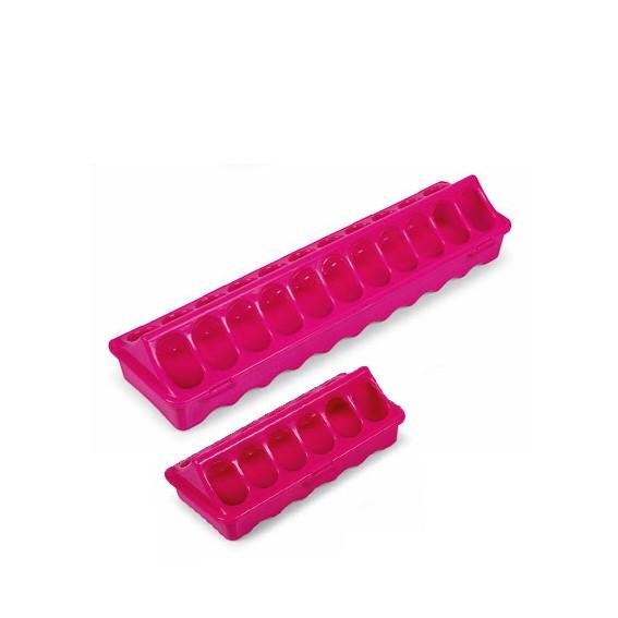 Futterrinne für Küken & Wachteln 20 oder 40 cm pink oder orange