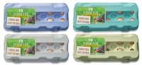 510 Stück 10er Eierkartons mit eigenem Etikett im Vorteilspaket grau