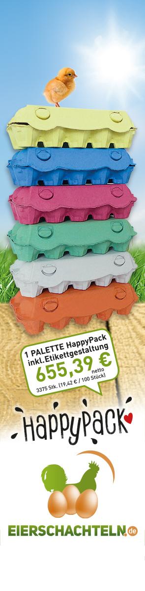 3375 Stück HappyPack inklusive Etikettengestaltung, Frachtfrei für 655,39 € netto