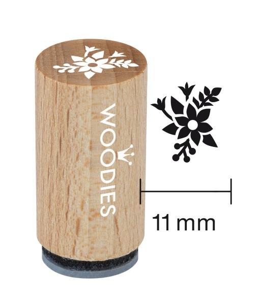 Mini-Woodie-Stempel Durchmesser 1,1 cm Blumen