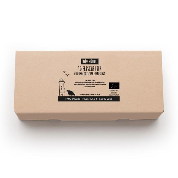 Stempel für Eierschachteln 10er EckPack – Stempel statt Etikett