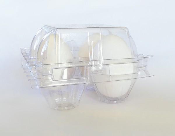 1200 Stück 4er PET-Eierschachteln, transparent