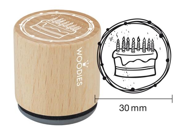 """Woodie Stempel Durchmesser 3 cm """"Torte"""""""