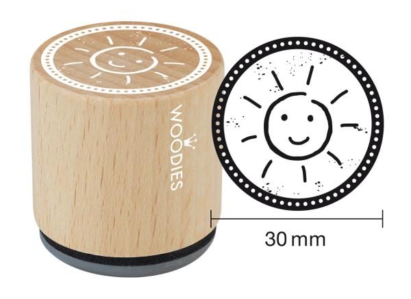 """Woodie Stempel Durchmesser 3 cm """"Sonne"""""""