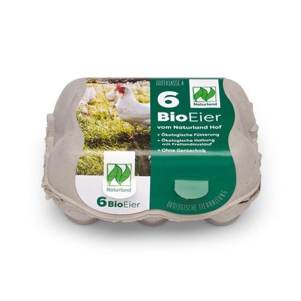 6er SwingPac Eierschachteln mit Etikett Naturland Vorteilspaket mit 450 Stück