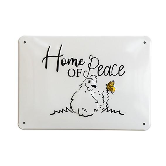 """Alu-Schild Little Farm Design """"Peace"""", gewölbt und geprägt 14,8 x 21 cm"""