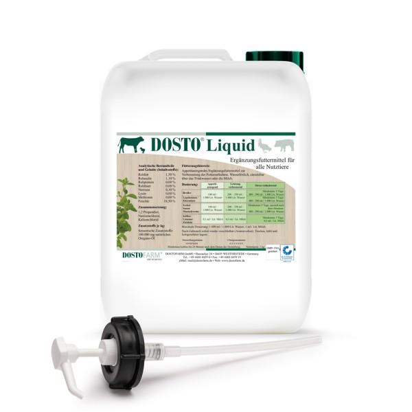 Dosto Liquid 5 kg Kanister - mit 10 % Oregano-Öl zur Verabreichung über die Tränke
