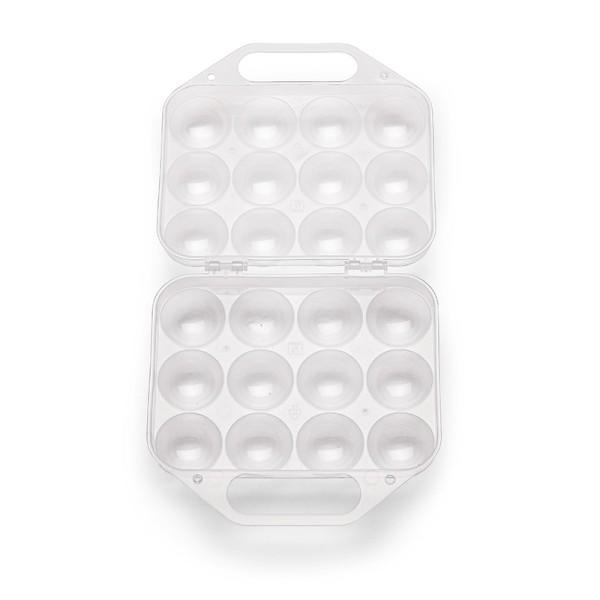 12er Mehrweg Kunststoff Eierbox – schönes Design & praktisches Format in zwei Farben