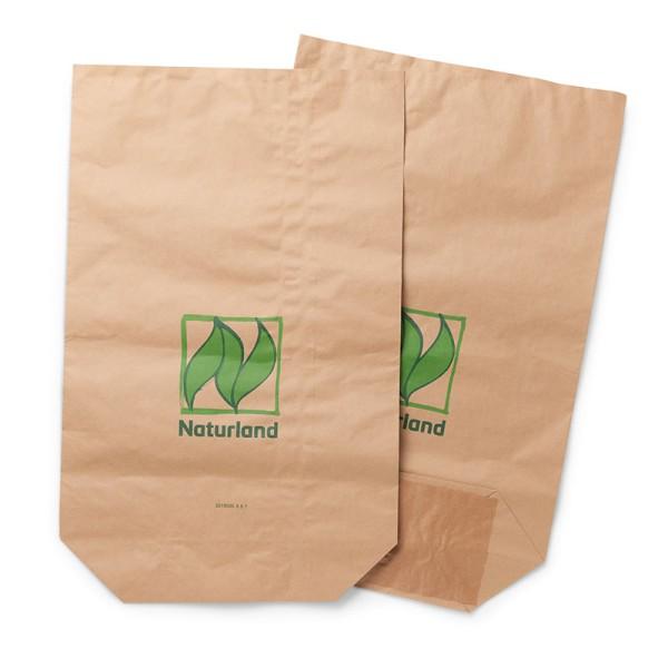 Papiersäcke – mit Naturland-Logo, in verschiedenen Größen