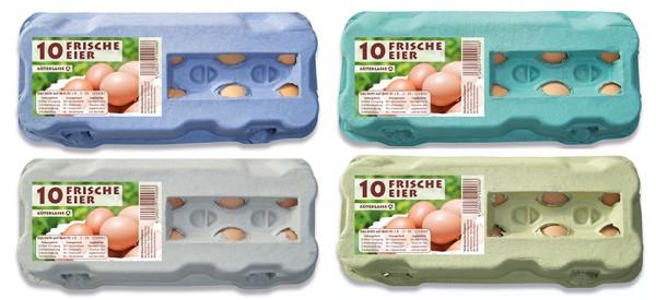 "1 Stück 10er Eierschachtel mit ""Frische Eier"""