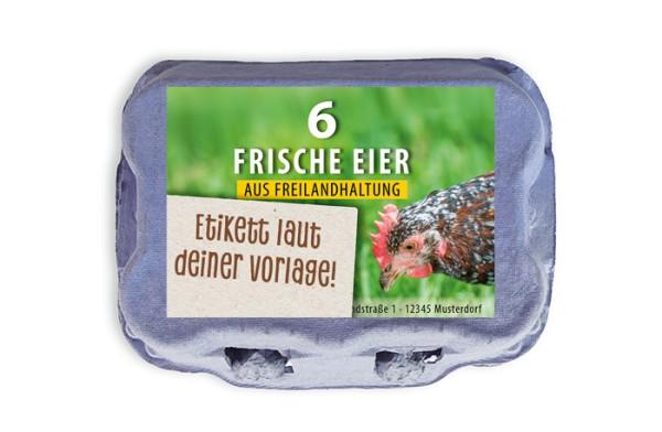 6er Eierschachtel-Etiketten laut deiner Druckvorlage
