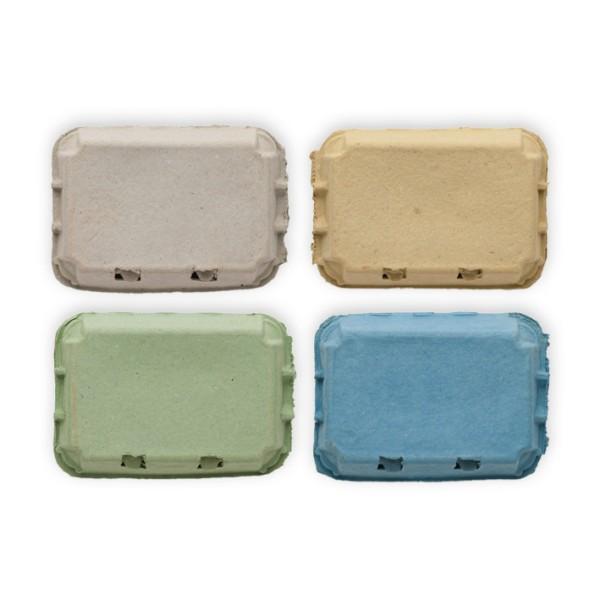 348 Stück EcoPack 6er Eierschachtel, Vorteilspaket – in vier Farben
