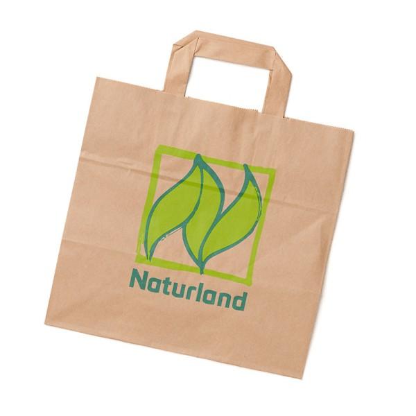Papiertragetasche mit Naturland-Logo 250 Stück