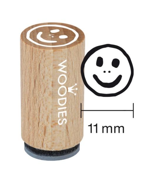 Mini-Woodie-Stempel Durchmesser 1,1 cm Smiley
