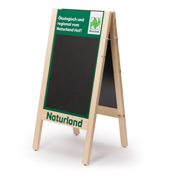 Kundenstopper Naturland – Stabiler Aufsteller für Hofladen, Messe etc.
