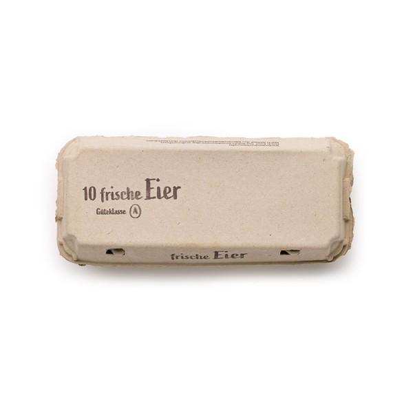 """10er Ecopack mit Innendruck und Druck """"Frische Eier"""" 1 Stück (für Bio + Bodenhaltung)"""