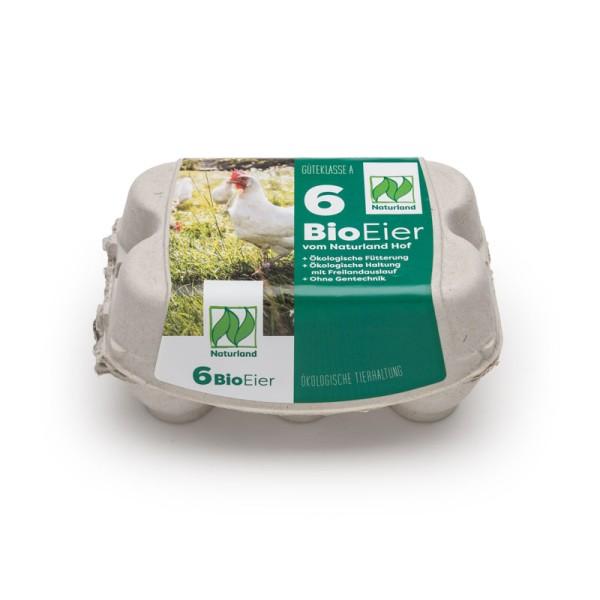 6er ComPac Eierschachteln mit Etikett Naturland Vorteilspaket mit 450 Stück