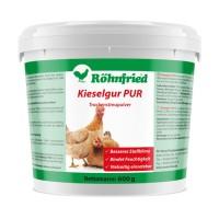 Kieselgur PUR - Kieselgurpulver zur Anwendung im Hühnerstall