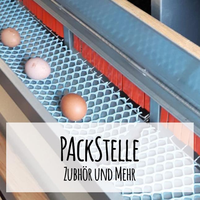 Packstellenzubehör für die Eiervermarktung
