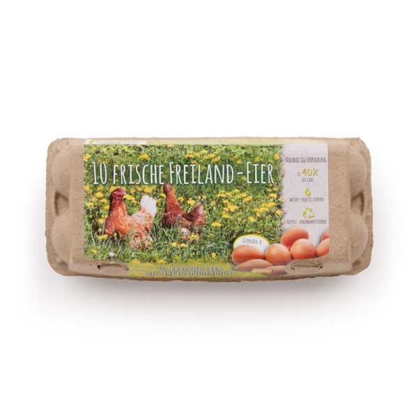 320 Stück GreenPack 10er Eierschachteln mit Freiland-Etikett im Vorteilsangebot