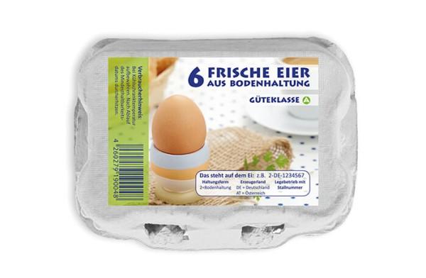 584 Stück 6er Eierkartons Bodenhaltung im Vorteilspaket