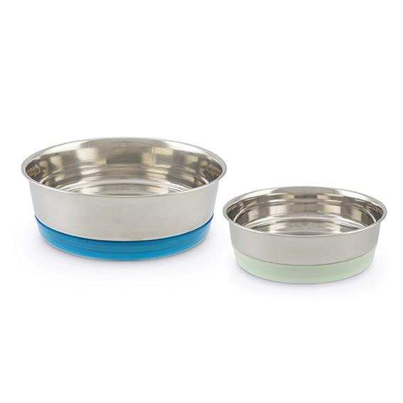 Edelstahlnäpfe für Huhn, Hund oder Katze – in zwei Größen
