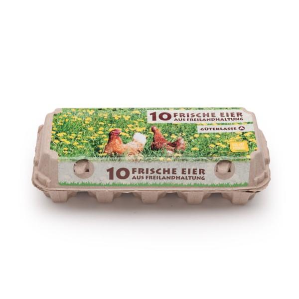 250 Stück 10er EcoPack mit Innendruck und Etikett für Freilandeier, Vorteilspaket
