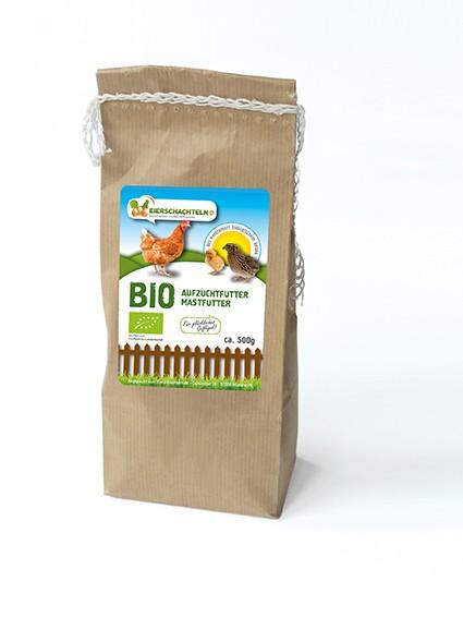 Bio-Mast und Aufzuchtfutter, 500 g Beutel