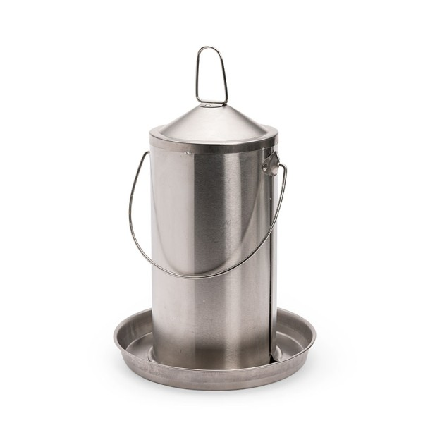Edelstahltränke 4 Liter für Hühner & Wachteln – edel & robust