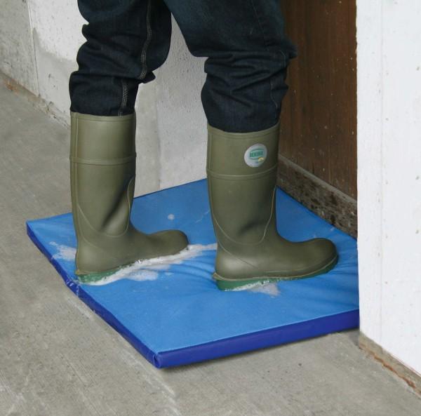 Blaue Desinfektionsmatte für Geflügelställe in 2 Größen