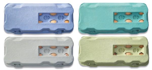 1 Stück 10er Eierschachteln neutral mit Sichtfenster