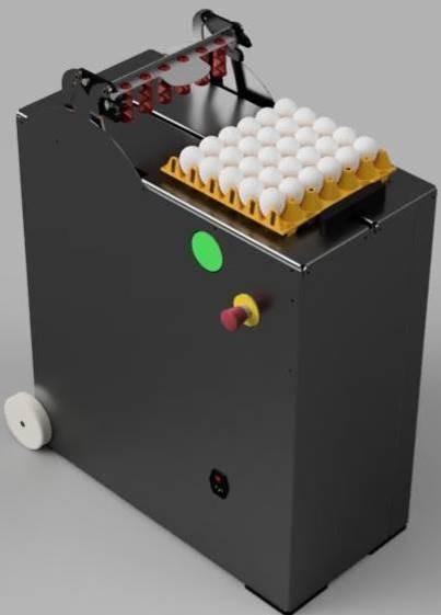 Eierstempelmaschine SA Flex für 30er Eierhorden – 30.000 Eier pro Stunde