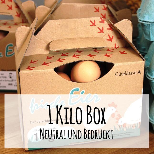 1 kg Boxen für Junghenneneier
