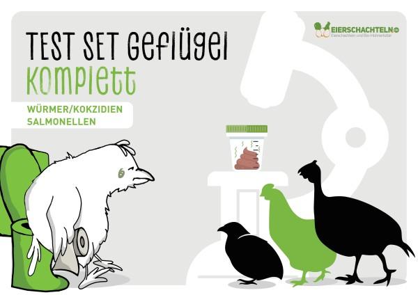 Stall-Check / Test auf Salmonellen, Kokzidien und Würmer – für Geflügelbetriebe & privat