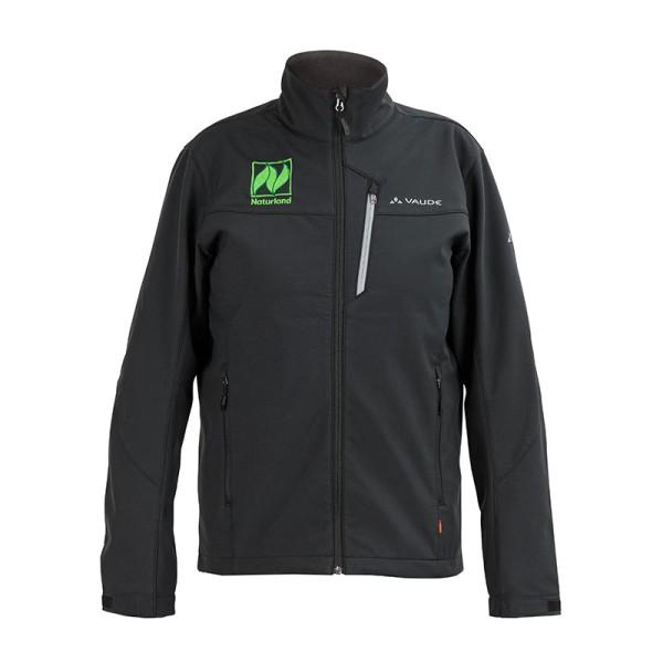 Herren-Softshell-Jacke – 100 % winddicht, mit Naturland-Logo