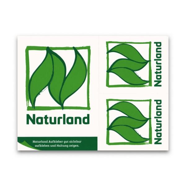 Naturland Etikett – Aufkleber mit farbigem Naturland Logo
