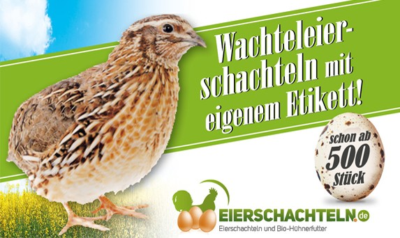 6er Wachtel-Eierschachtel-Etiketten laut Ihrer Druckvorlage