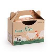 1 kg Eierbox für Eier verschiedener Größe