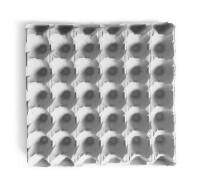 140 Stück 30er Eierpappen, Höckerlagen für die Größen S - XL, grau
