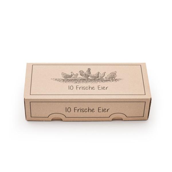 """390 Stück EckPack 10er Eierschachtel, Vorteilspaket mit Direktdruck """"Frische Eier"""""""