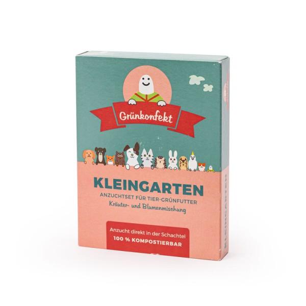 Grünkonfekt Kleingarten – leckere Kräuter- und Blumenmischung mit Anzucht-Set