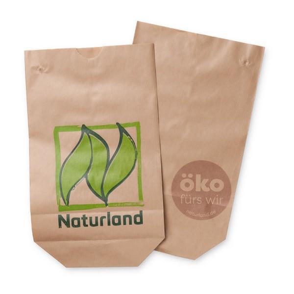 """Bodenbeutel """"Naturland"""" 1 kg – zum Verpacken von losem Obst und Gemüse 1000 Stück"""