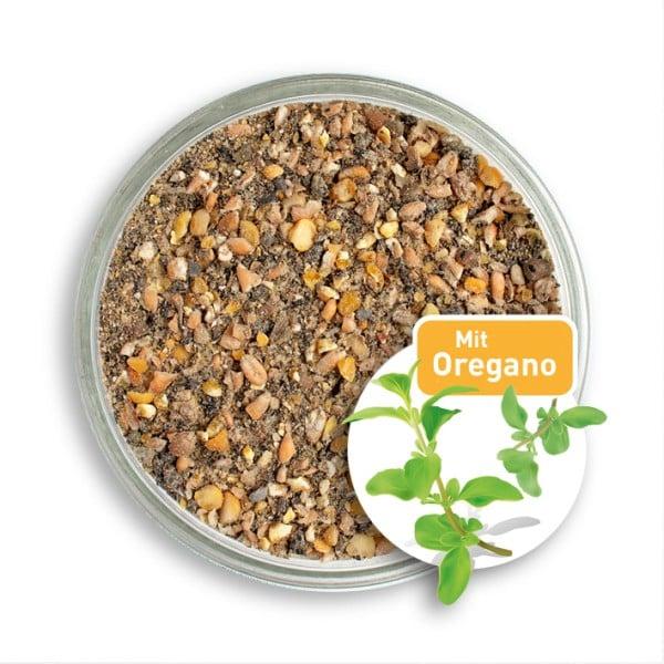 10 kg Biofutter-Mehl mit Oregano-Extrakt für Hühner und Wachteln